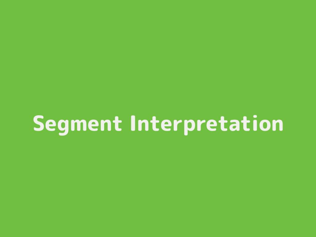 Segment Interpretation