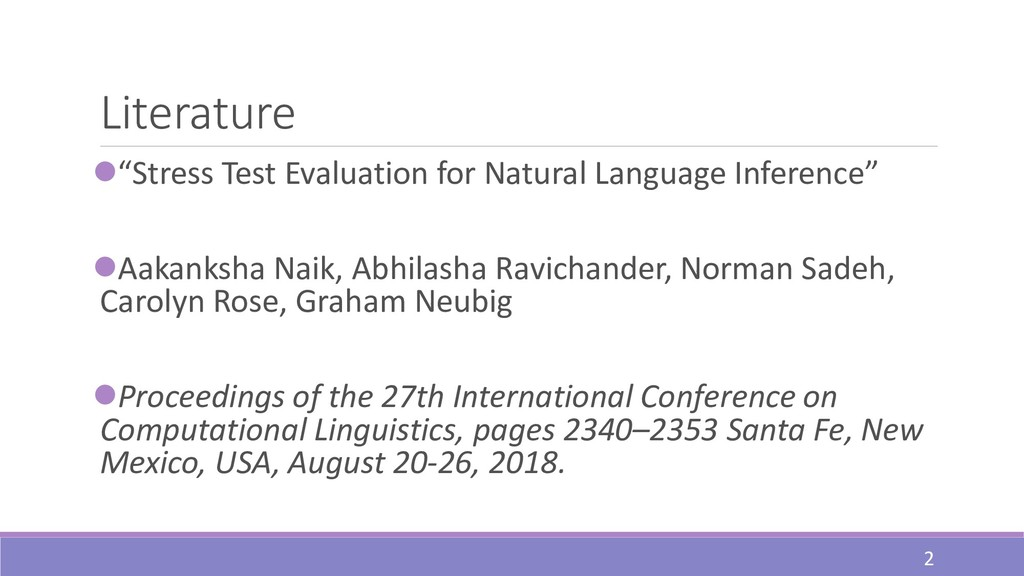 """Literature ⚫""""Stress Test Evaluation for Natural..."""
