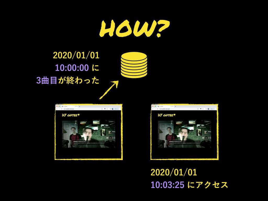 HOW?  ʹ ۂ͕ऴΘͬͨ ...