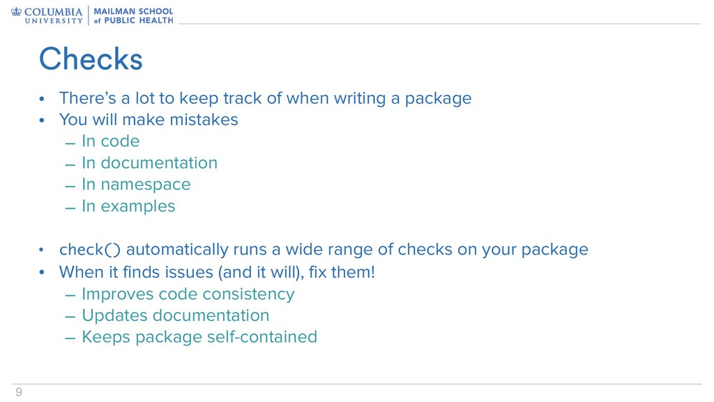 9 • There's a lot to keep track of when writing...