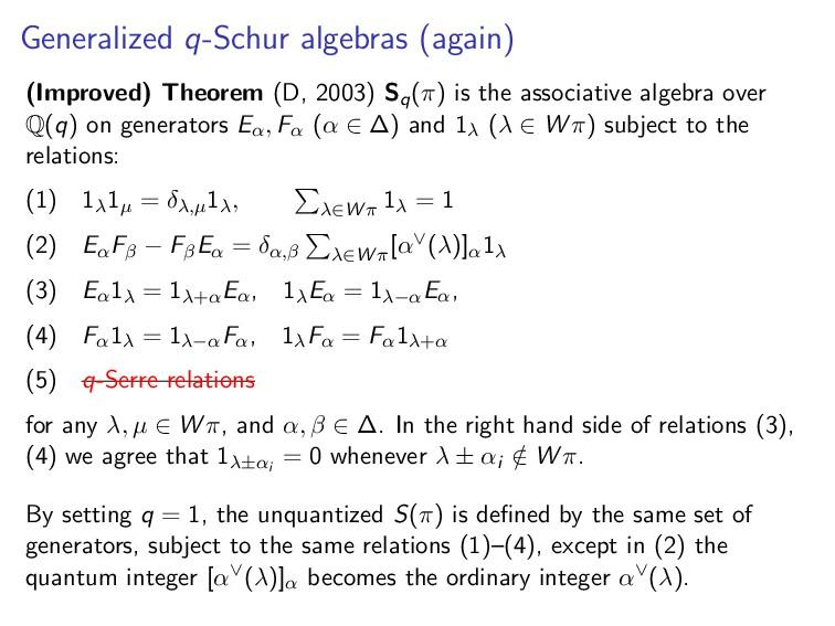 Generalized q-Schur algebras (again) (Improved)...