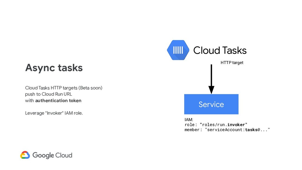 Async tasks Cloud Tasks HTTP targets (Beta soon...