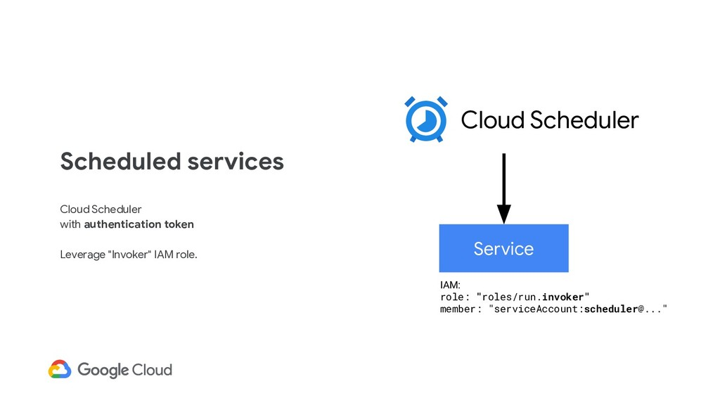 Scheduled services Cloud Scheduler with authent...