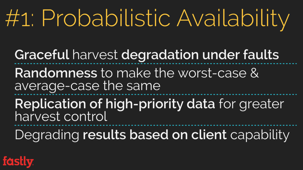 Graceful harvest degradation under faults Rando...