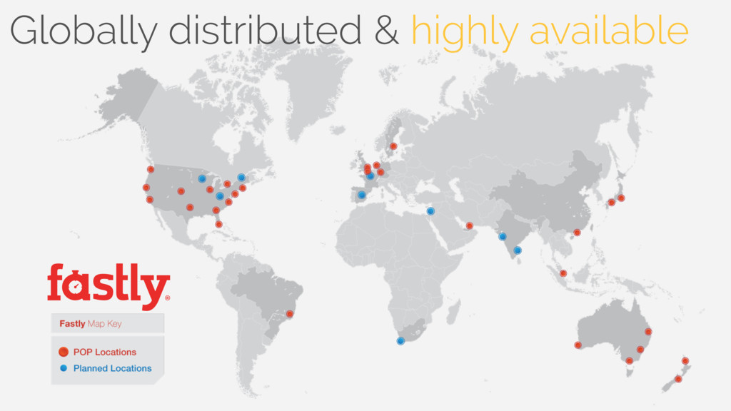 Globally distributed & highly available