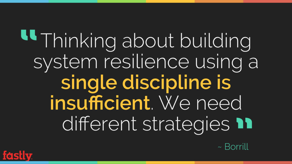 Thinking about building system resilience using...