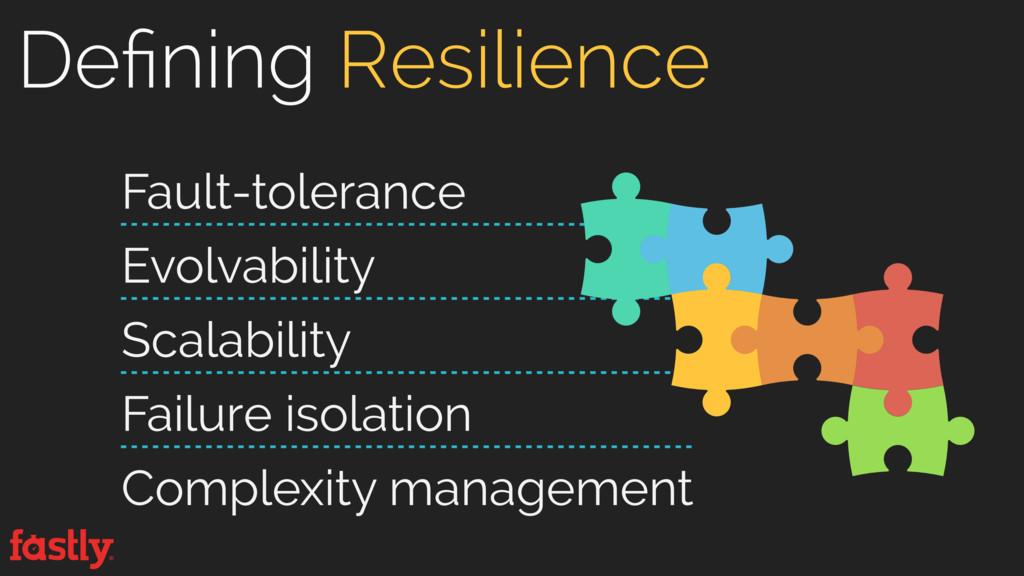 Defining Resilience Fault-tolerance Evolvabilit...