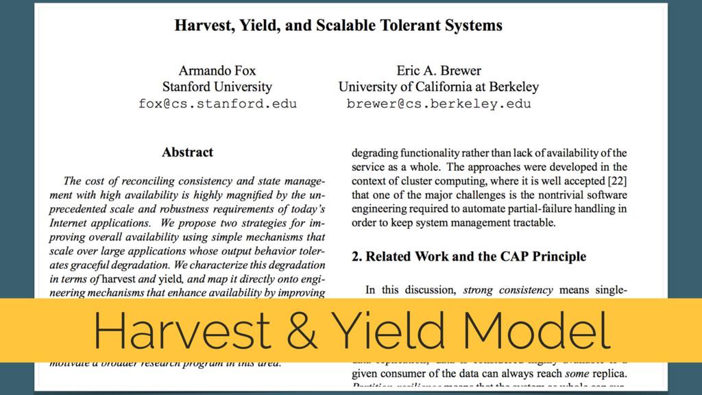 Harvest & Yield Model