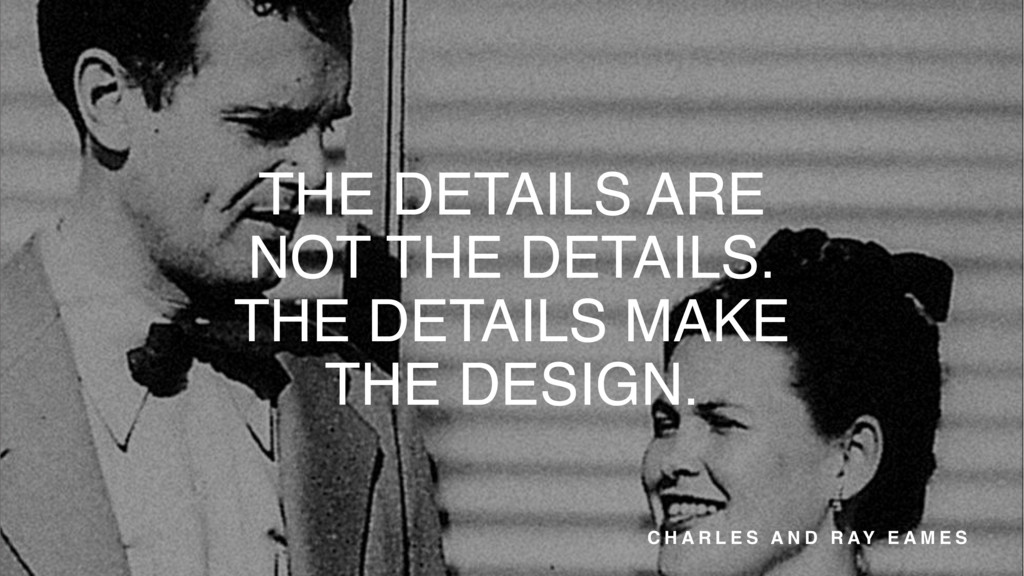 THE DETAILS ARE NOT THE DETAILS. THE DETAILS MA...