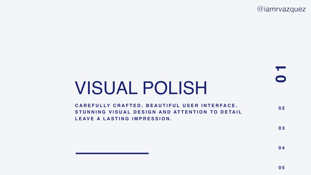 VISUAL POLISH C A R E F U L LY C R A F T E D , ...