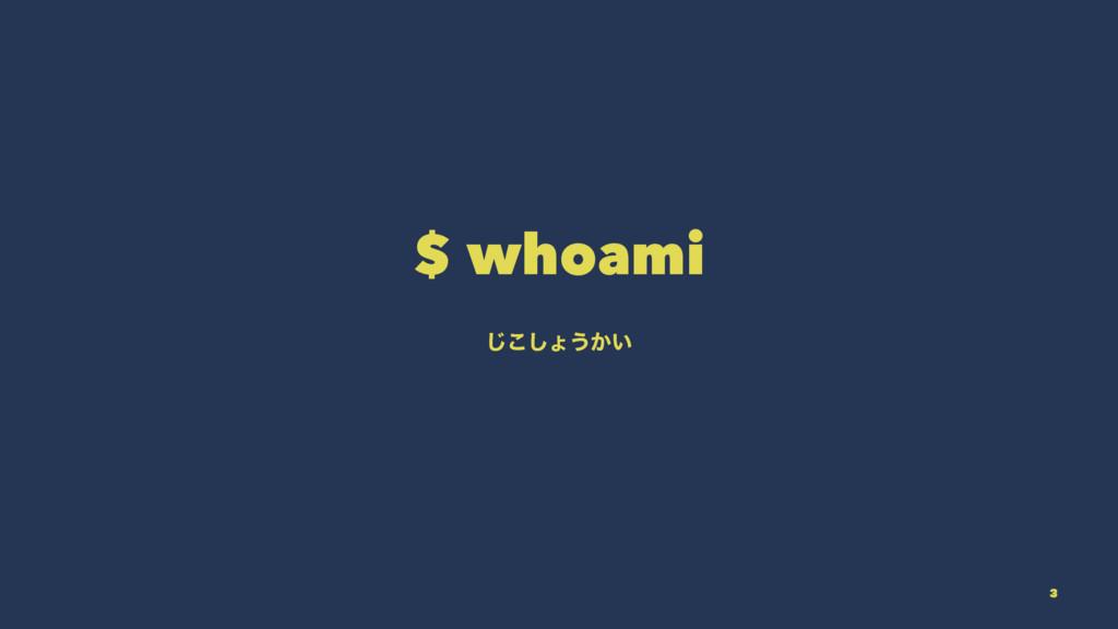 $ whoami ͜͡͠ΐ͏͔͍ 3