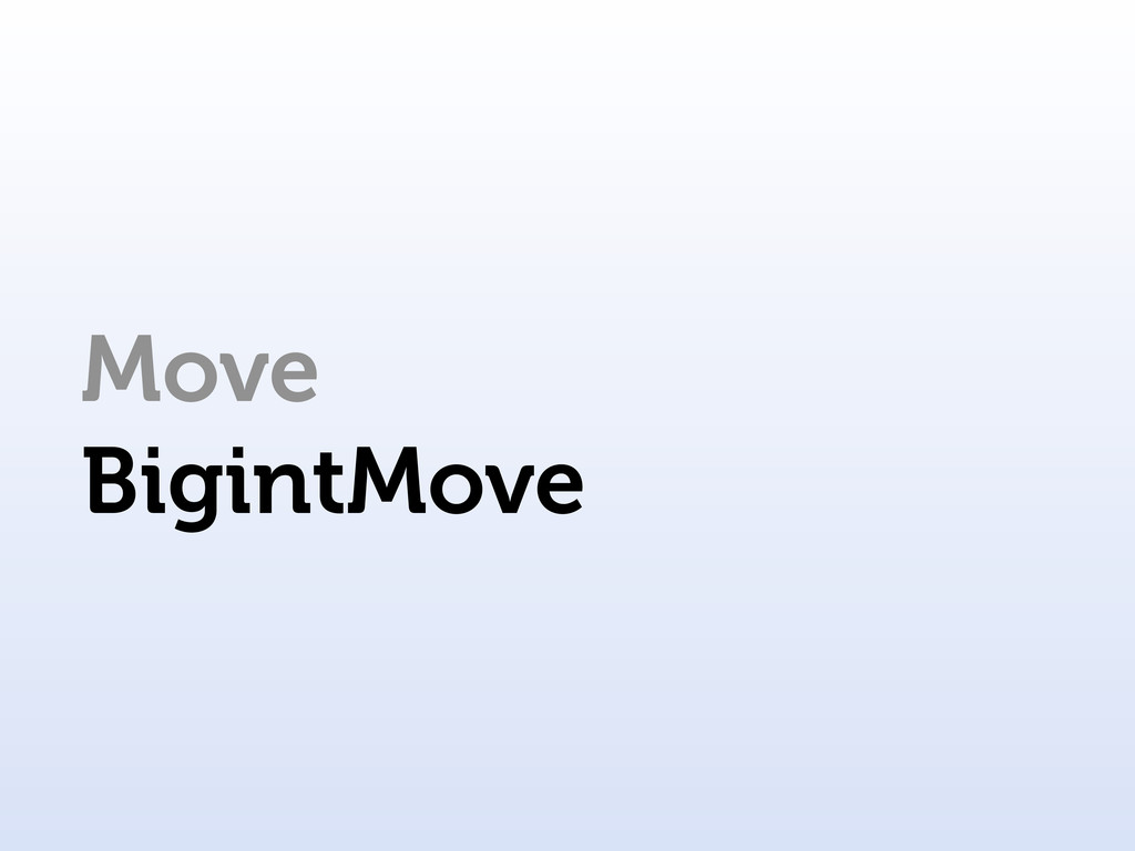 Move BigintMove