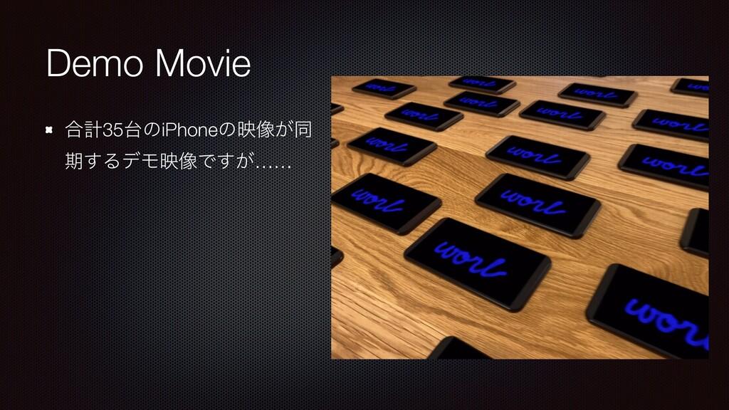 Demo Movie ߹ܭ35ͷiPhoneͷө૾͕ಉ ظ͢ΔσϞө૾Ͱ͕͢……