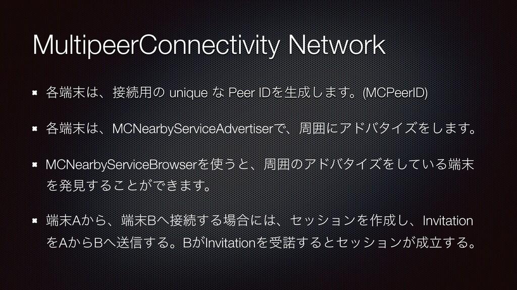MultipeerConnectivity Network ֤ɺଓ༻ͷ unique ...