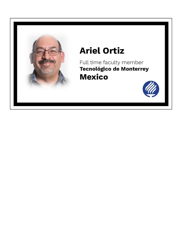 Ariel Ortiz Full time faculty member Tecnológic...