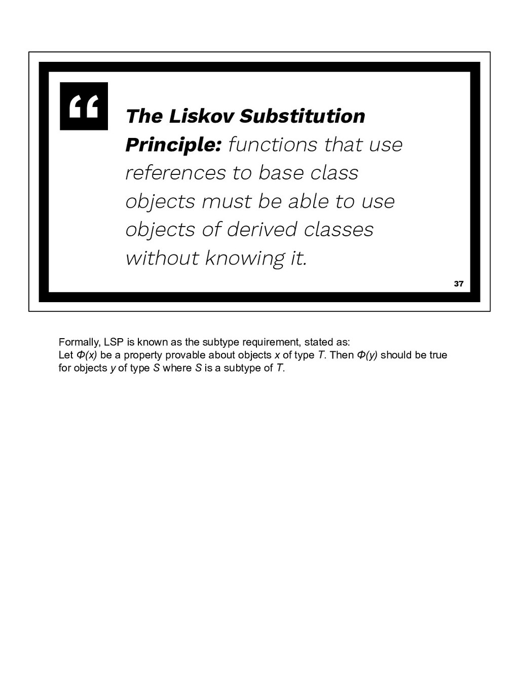 The Liskov Substitution Principle: functions th...