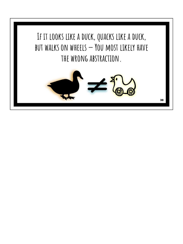 If it looks like a duck, quacks like a duck, bu...