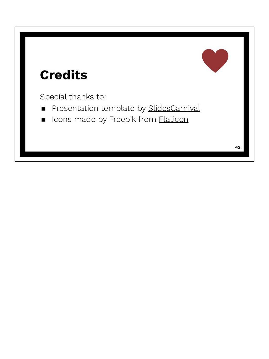 Credits Special thanks to: ▪ Presentation templ...