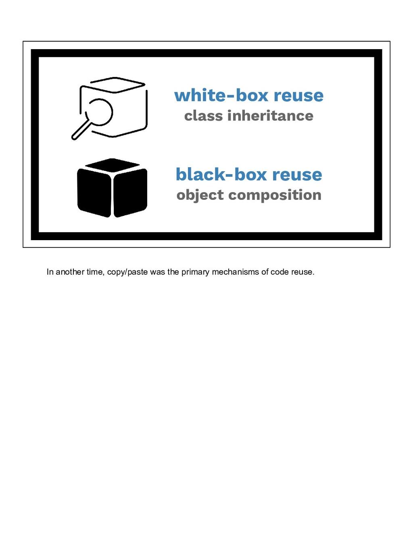 white-box reuse class inheritance black-box reu...