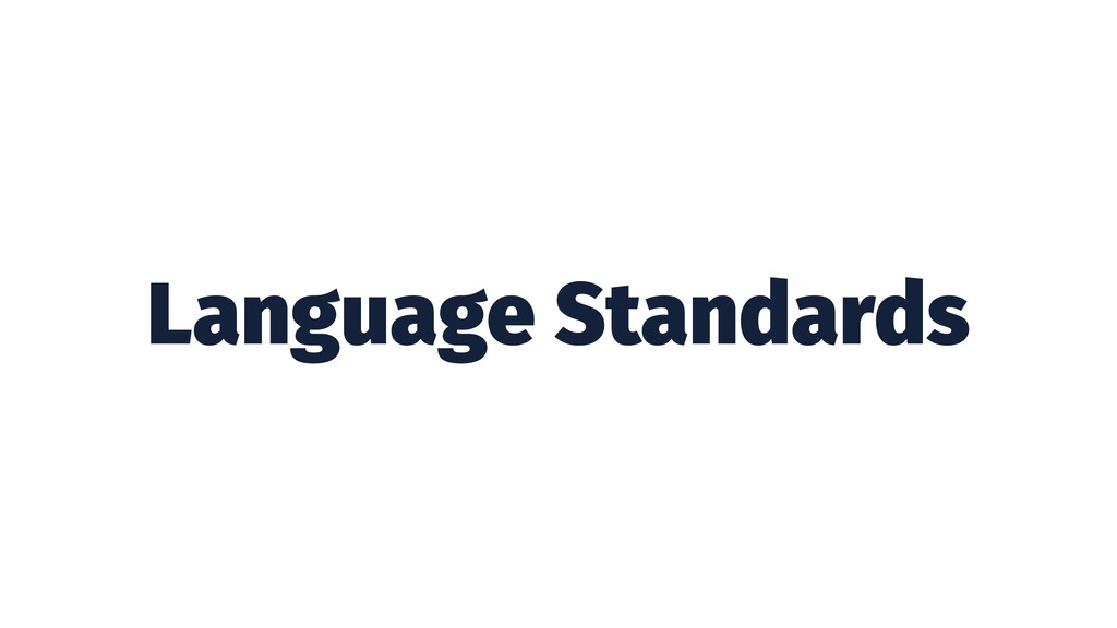 Language Standards