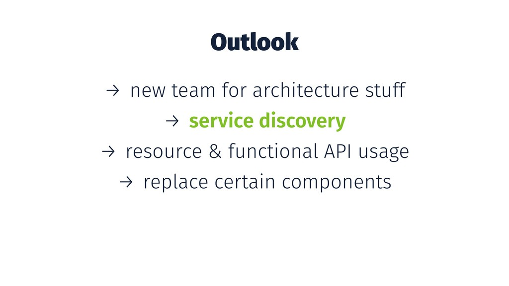 Outlook → new team for architecture stuff → ser...