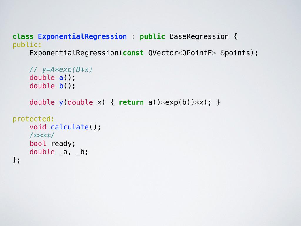 class ExponentialRegression : public BaseRegres...