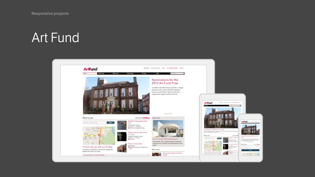 Art Fund Responsive projects