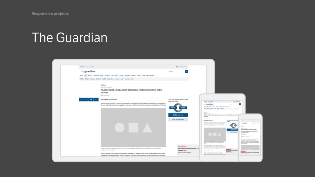 The Guardian Responsive projects