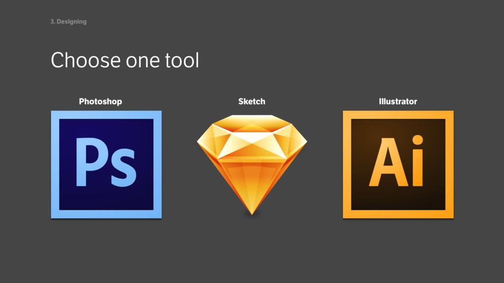 Choose one tool 3. Designing Photoshop Illustra...