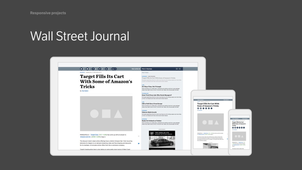 Wall Street Journal Responsive projects