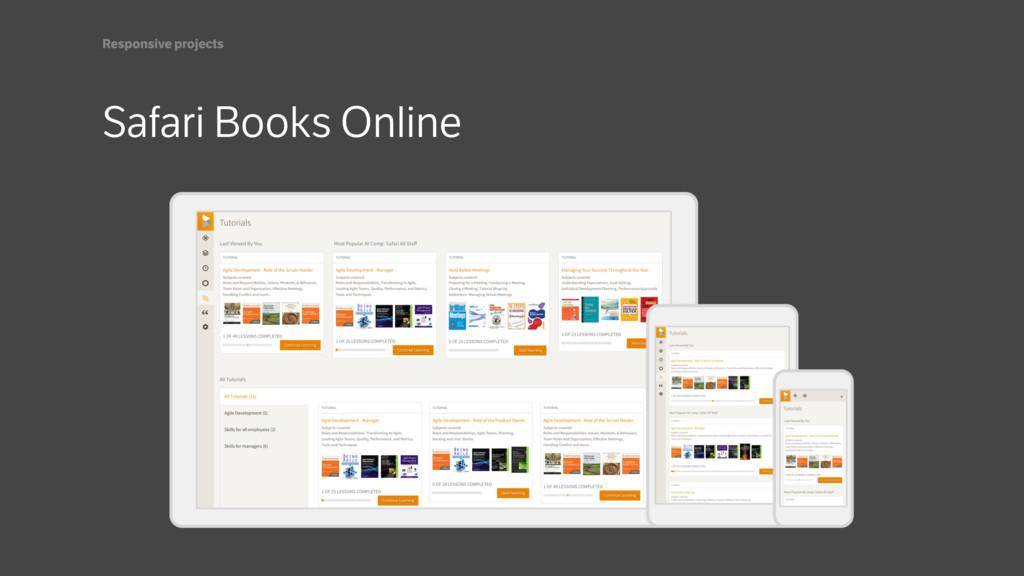 Safari Books Online Responsive projects