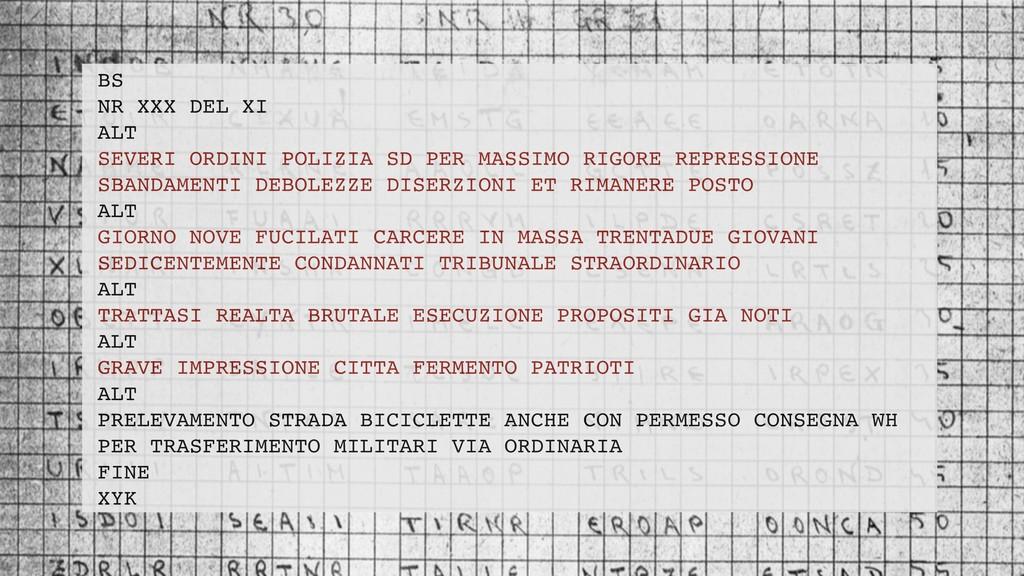 BS NR XXX DEL XI ALT SEVERI ORDINI POLIZIA SD P...