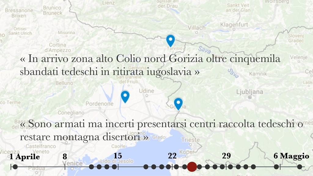 « In arrivo zona alto Colio nord Gorizia oltre ...