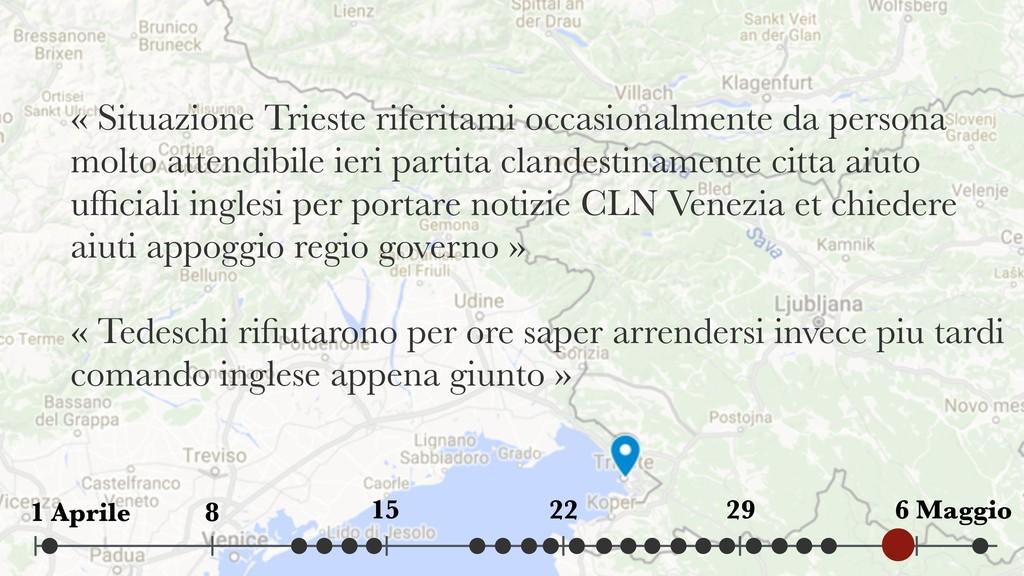« Situazione Trieste riferitami occasionalmente...