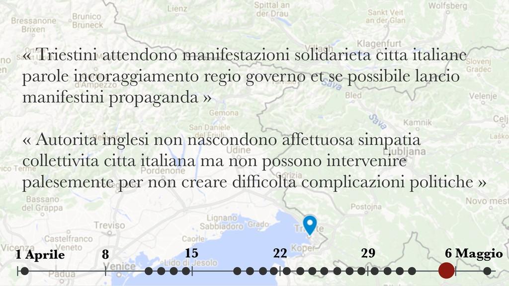 « Triestini attendono manifestazioni solidariet...