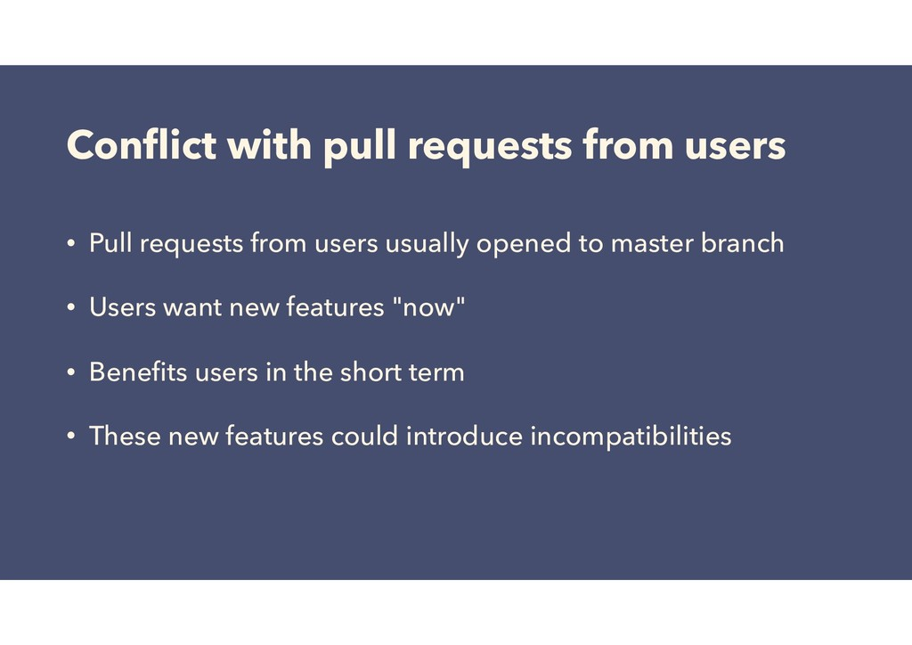 Conflict with pull requests from users • Pull re...