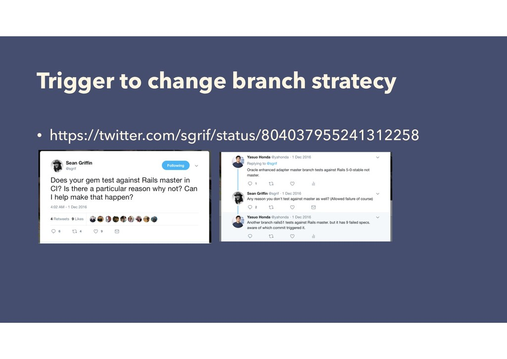 Trigger to change branch stratecy • https://twi...