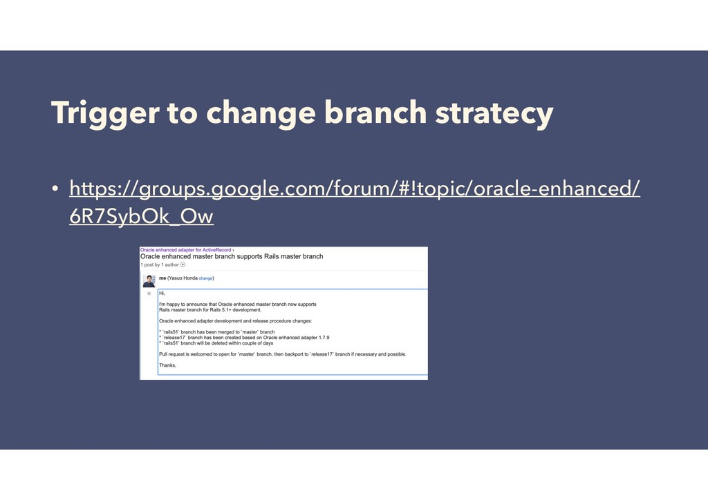 Trigger to change branch stratecy • https://gro...