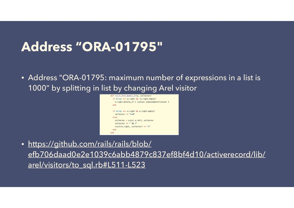 "Address ""ORA-01795"" • Address ""ORA-01795: maxim..."