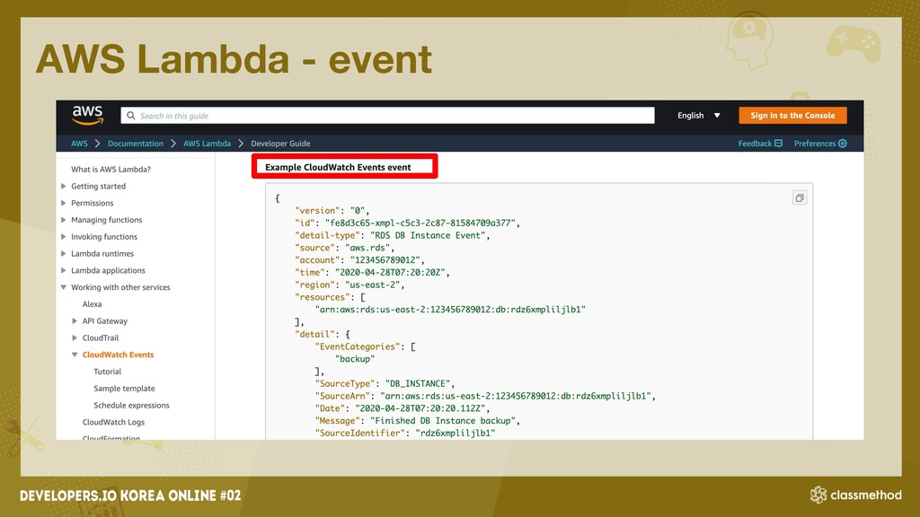 AWS Lambda - event