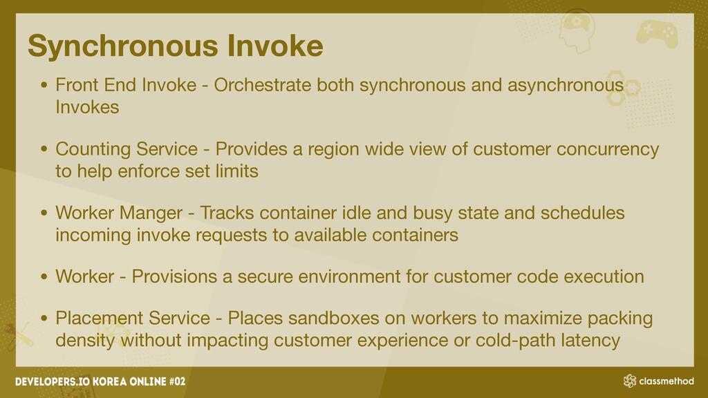 Synchronous Invoke • Front End Invoke - Orchest...