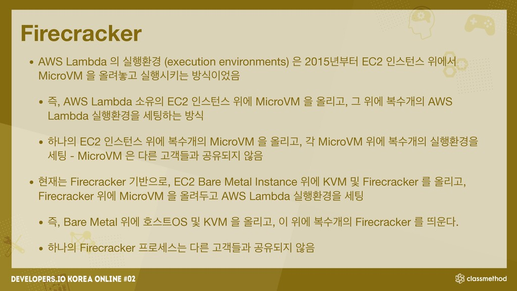 Firecracker • AWS Lambda  प೯ജ҃ (execution envi...