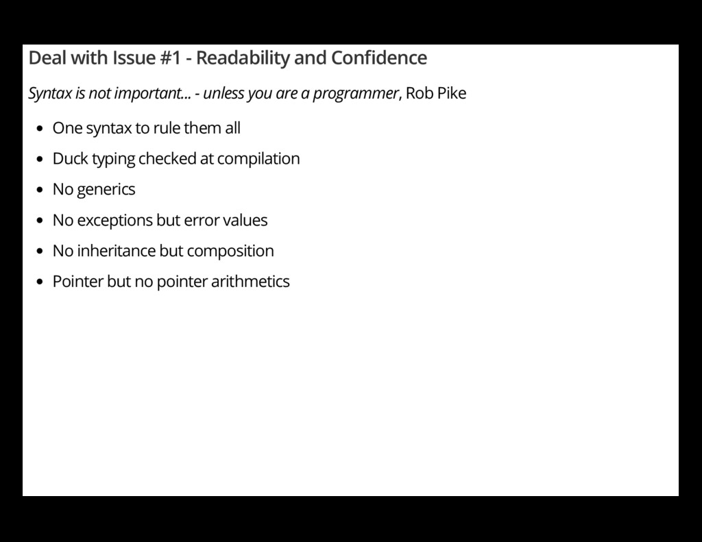 Deal with Issue #1 - Readability and Con dence ...
