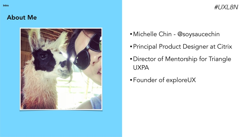 About Me Intro • Michelle Chin - @soysaucechin ...