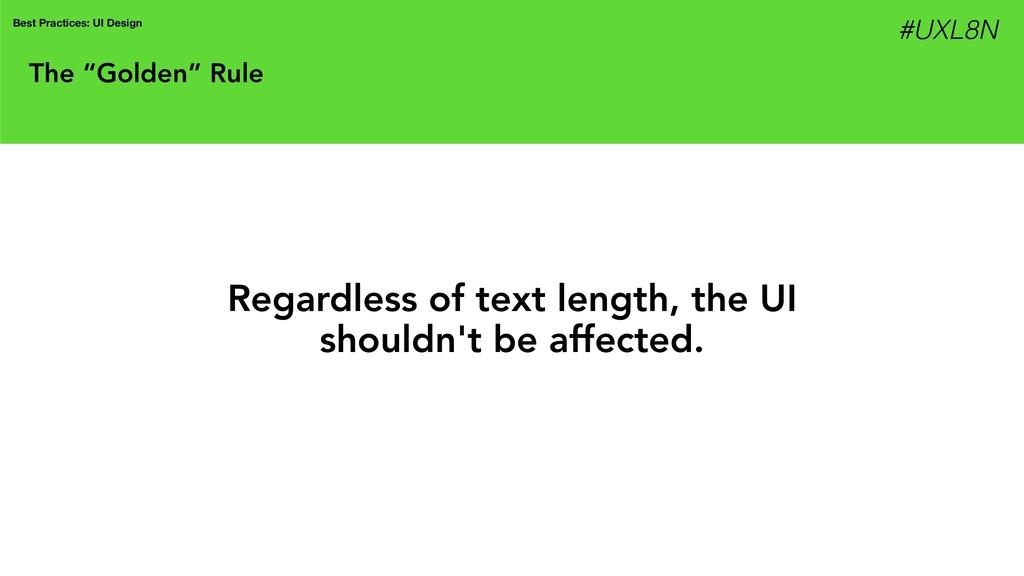 """The """"Golden"""" Rule Best Practices: UI Design Reg..."""