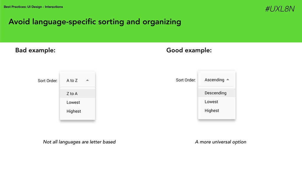 Avoid language-specific sorting and organizing N...