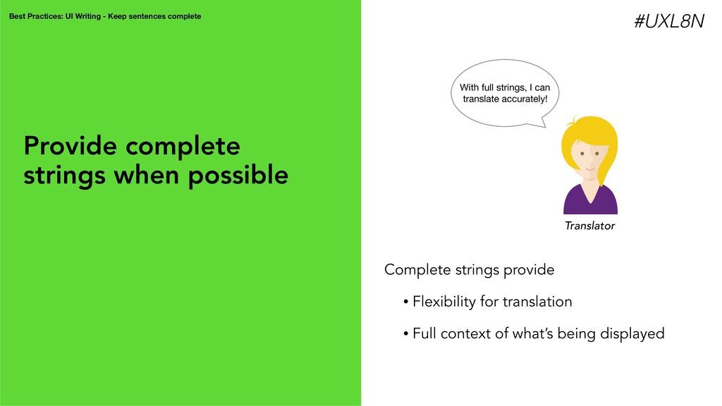 Best Practices: UI Writing - Keep sentences com...