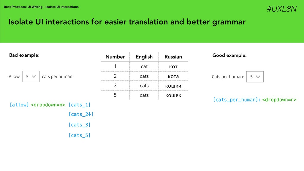 Isolate UI interactions for easier translation ...