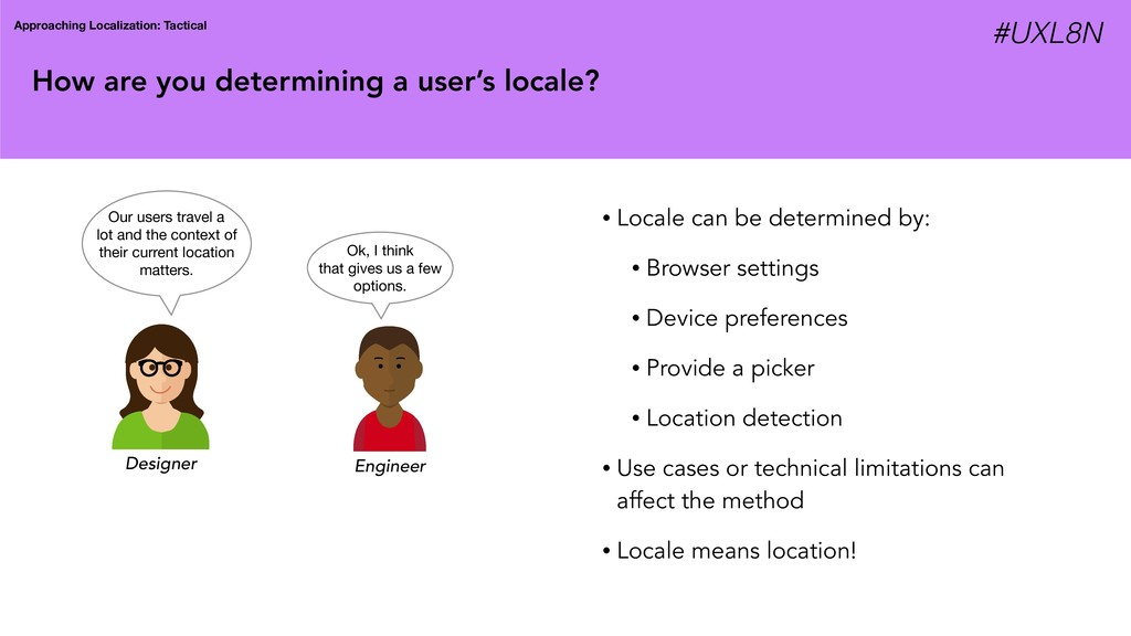 How are you determining a user's locale? Approa...