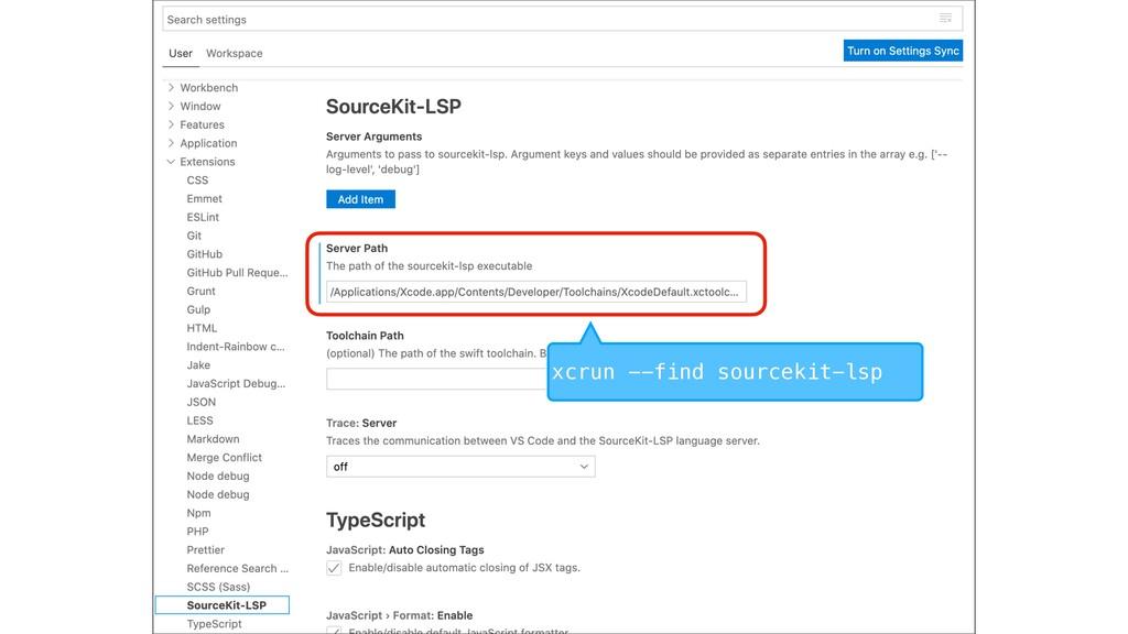 xcrun --find sourcekit-lsp